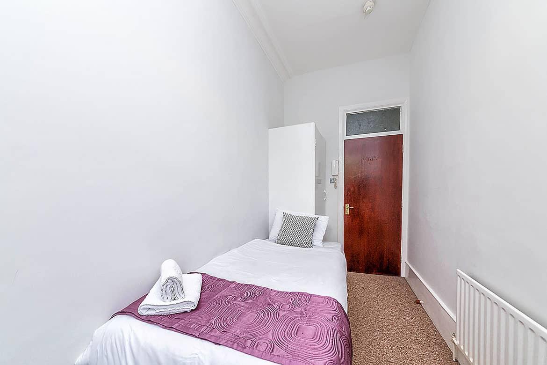 Single basic room shared facilities